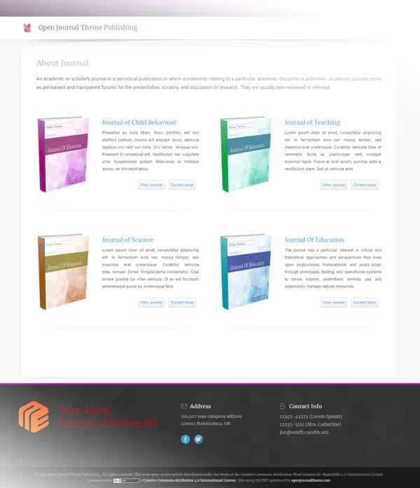 ⭐ OJS 3 Theme Responsive - Academic Pro [Affordable Price]