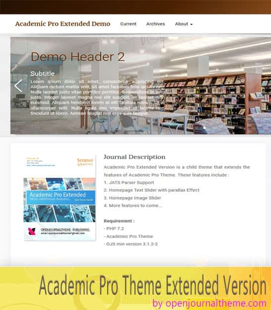 academic pro extended ojs 3 theme